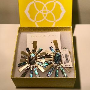NWT $250 KENDRA SCOTT Sigal Abalone Shell Earrings